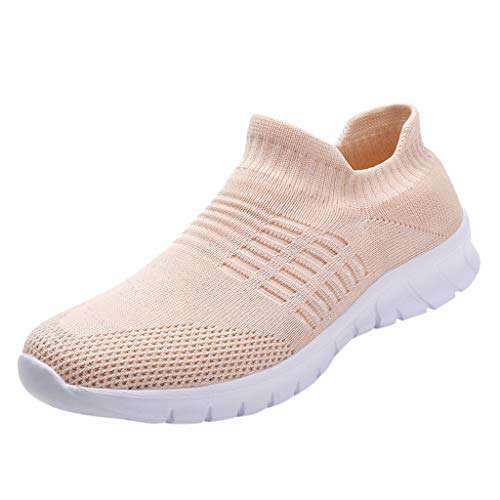 - Women's Running Shoes Fashion Breathable Sneakers Mesh Soft Sole Casual Athletic Lightweight,Londony Work Sneakers Pink