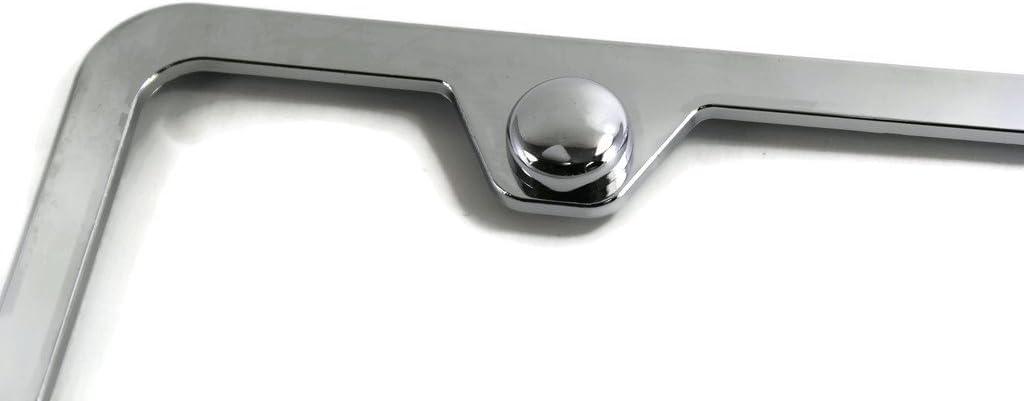 Au-Tomotive Gold DanteGTS Chevrolet Corvette C4 Slim ABS Plastic License Plate Tag Frame Mirror Chrome Cap INC