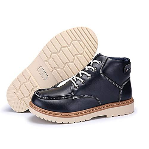 Bottes Pu De Fmwlst Hommes D'hiver Haute Chaussures Pour Qualité Lacets À 7wFdSqw