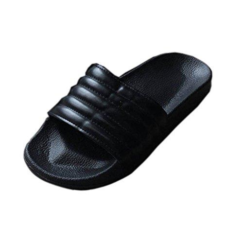Striped hunpta Casual Womens Flat Slipper Flop On Flip Sandal Ladies Black Sliders Slip Zgwpq