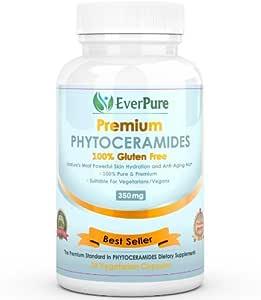 #1 Phytoceramides 350mg Premium Quality GLUTEN FREE Plant Derived 100% All Natural |Skin Rejuvenation | Anti-aging | Included Vitamins A, C, D & E | 30 Veggie Capsules 100% Money Back Guarantee