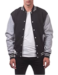 Pro Club Men's Varsity Fleece Baseball Jacket