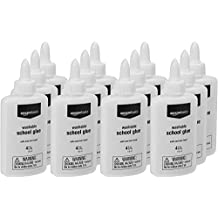 AmazonBasics All Purpose Washable Liquid Glue, 4 oz. Bottle, 12-Pack