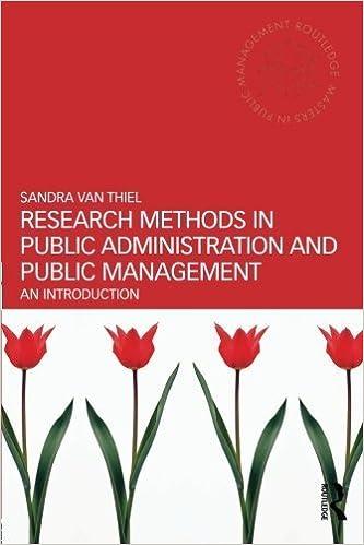Téléchargez des ebooks epub gratuits google Research Methods in Public Administration and Public Management: An Introduction (Routledge Masters in Public Management) by Sandra van Thiel (2014-02-28) MOBI B01JXRG6ZS