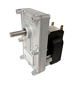 Pellet Stove Auger Gear Motor, 1 RPM, 120 volts, 0.51 amps (Whitfield Quest, Merkle-Korff, Earth sto