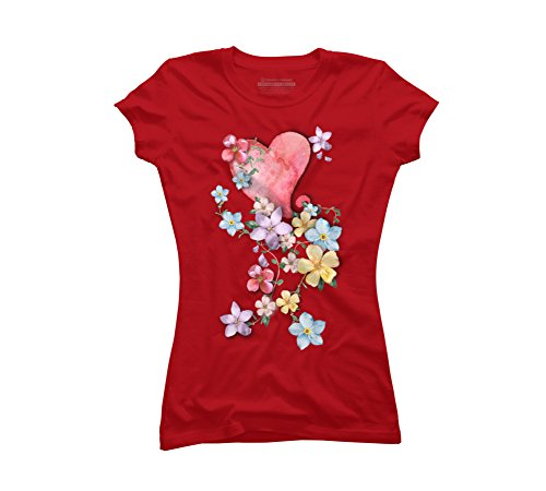 I Love Spring Juniors' 2X-Large Red Graphic T Shirt - Design By Humans