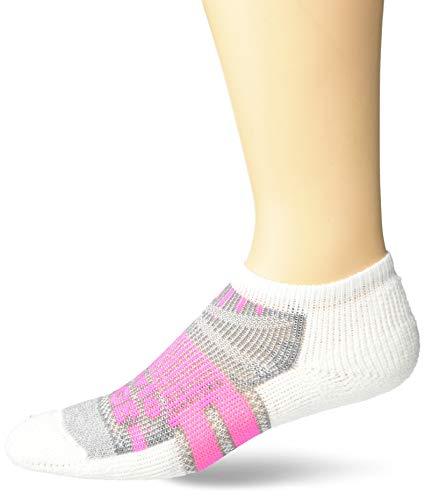 Thorlos VCMU Max Cushion Edge Court Low Cut Socks, Electric Pink/White, Medium