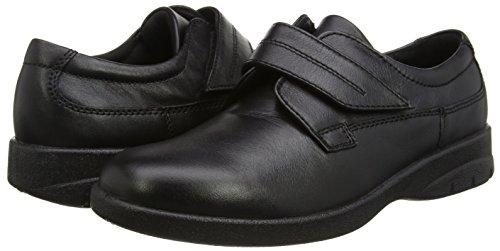 Padders Air - Zapatos sin cordones de cuero hombre negro - negro