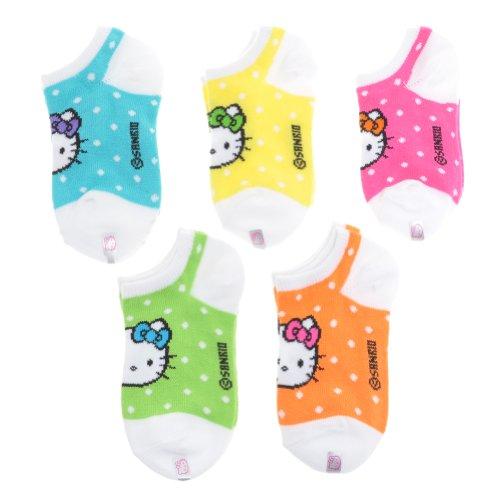 Hello Kitty Little Girls' ot Socks (Toddler)-Multicolor - 5-6.5