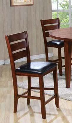 ACME 00682 Set of 2 Urbana Counter Height Chair, Cherry Finish, - Seat Cherry Chair Two