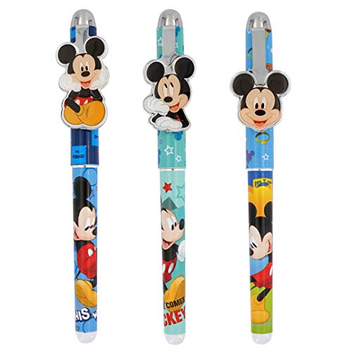 Mickey Mouse Metal Clip Pens - 3 Pack