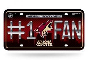 - NHL Arizona Coyotes #1 Fan Metal License Plate Tag