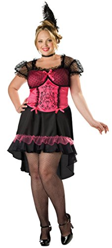 [Incharacter Womens Sexy Western Saloon Gal Burlesque Babe Theme Party Costume, 2XL (20-22)] (Saloon Gal Costumes)
