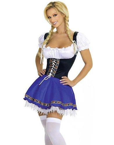 Hen Night French Maid vestito Costume da cameriera francese Taglia M