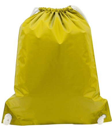 WHITE DRAWSTRING BACKPACK, Bright Yellow, Case of 48