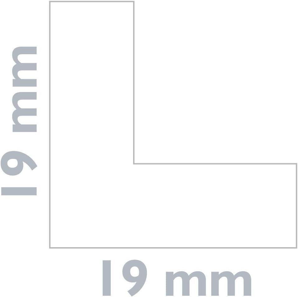 Longitud 10 m Negro Rodapi/é Flexible Autoadhesivo 19 x 19 mm PrimeMatik