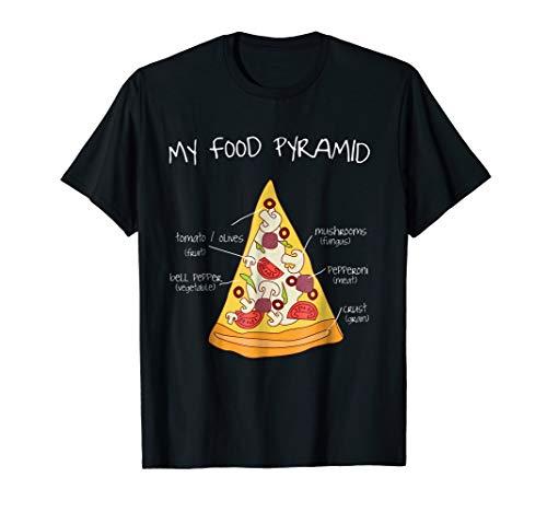 food pyramid pizza shirt - 4