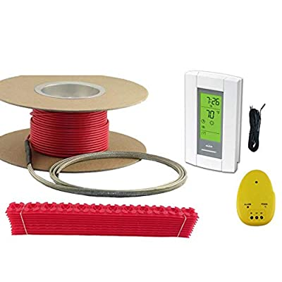 Image of 30 Sqft Cable Set, Electric Radiant Floor Heat Heating System with Aube Digital Floor Sensing Thermostat Home Improvements