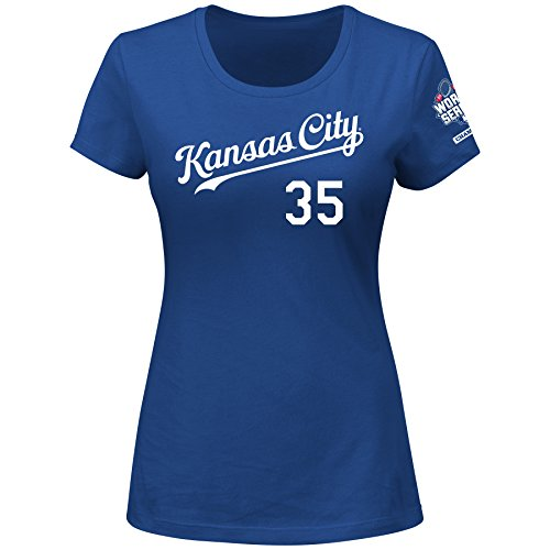MLB Kansas City Royals Women's World Champions Player E Hosmer 35 N N Tee, X-Giant, Royal – DiZiSports Store