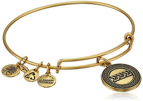Alex and Ani Sorority Sigma Expandable Rafaelian Wire Bangle Bracelet