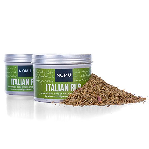 NOMU Italian Seasoning Rub (2-Pack   3.52oz) - Blend of 13 Herbs and Spices - Paleo, Vegan, Non-Irradiated, No MSG or Preservatives