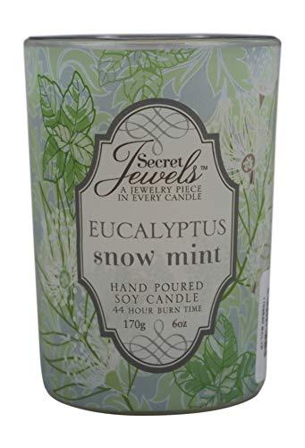 - Secret Jewels GiftCraft Soy Jewelry Votive Candle, Eucalyptus Snow Mint