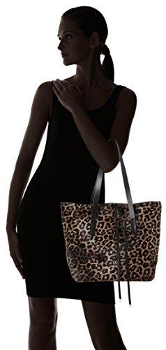 Bogner - Singa, Bolsos maletín Mujer, Schwarz (Taupe), 12x31x32 cm (B x H x T)