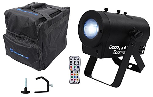 Chauvet DJ Gobo Zoom USB Custom Gobo Projector Light W/10 Gobos+Bag+Clamp+Remote by Chauvet