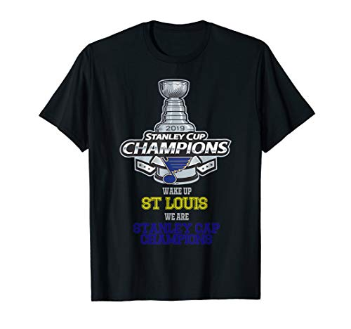 (Stanley blues cup champions St-Louis 2019 bleed blue t shirt)