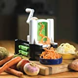 Vegetable Spiralizer by Paderno - Durable, Sturdy and Strong Tri-blade Turning Spiral Slicer - Best Zucchini, Fruits, Vegetable Noodle and Veggie Pasta Cutter - The Perfect Kitchen Tool for Healthy Living Life!