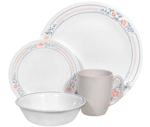 Corelle Livingware 16 piece Dinnerware Set, Service for 4, Apricot Grove ()