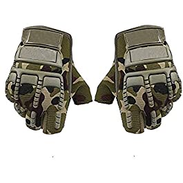 Kandid Bike Riding/Racing Army Green Outdoor Gloves for Boys & Girls (Black_XL)