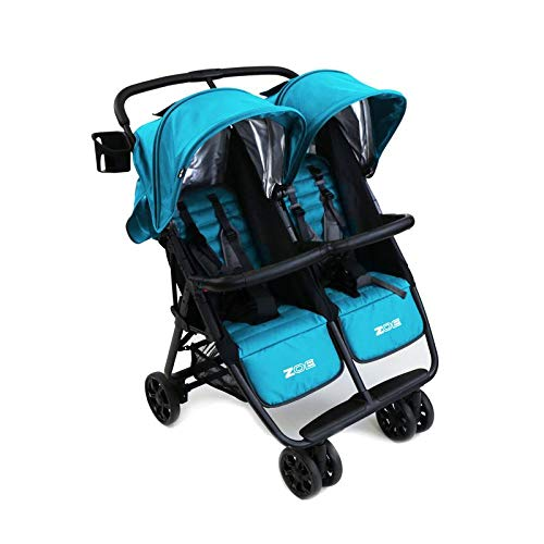 - ZOE XL2 Best Double Stroller - Everyday Twin Stroller with Canopy
