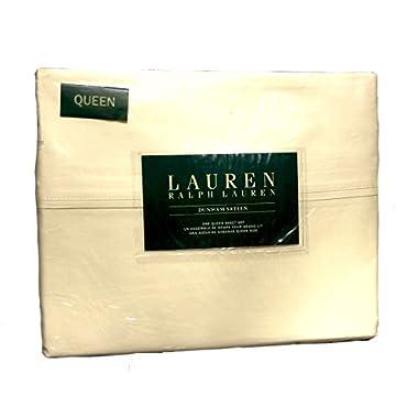 Lauren Ralph Lauren Queen Pale Yellow 4pc Sheet Set Dunham Sateen 300