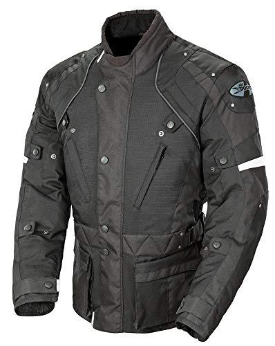 Joe Rocket Ballistic Revolution Men's Textile Sports Bike Motorcycle Jacket - Black/Black/X-Large