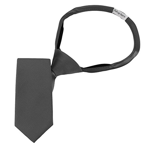 Handmade 14'' Zipper Ties For Boys Woven Boys Gunmetal Grey Gray Ties: For Kids Wedding Graduation by Luther Pike Seattle (Image #2)