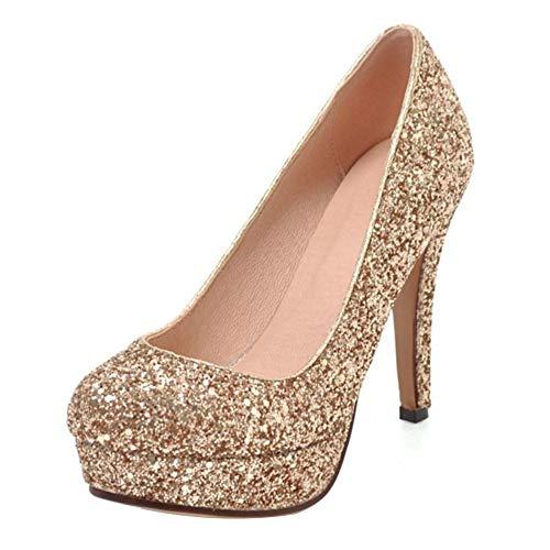 Court Razamaza Slip Donna Platform Shoes Oro On Fashion wtzHqt
