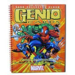 MARVEL COMICS CARD BOOK THE OFFICIAL COLLECTION ALBUM GENIO CARDS FEATURING MARVEL SUPER HEROES THE MORE YOU KNOW, THE STRONGER YOU GROW! VOLUME 1 BOOK (SOFTCOVER, 2003, COLLECTORS ITEM) - Card Marvel Comic Book
