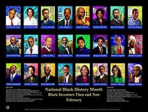 (Black Inventors Then and Now Poster 24x18 inches)