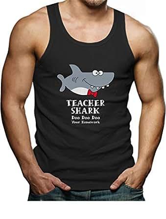 Teacher Shark Doo Doo Funny Gift for Teachers Men's Tank Top Small Black
