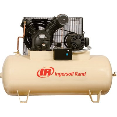 - Ingersoll Rand Electric Stationary Air Compressor - 10 Hp, 35 Cfm At 175 Psi, 230 Volts, Model# 2545E10-V