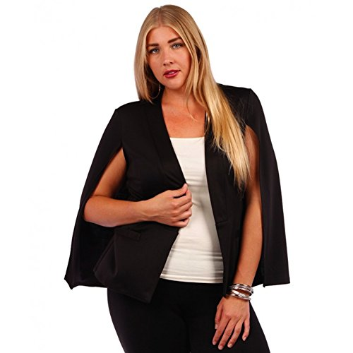 Yummy Plus Women's Cape Black Blazer