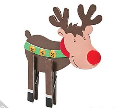 (Christmas Foam Reindeer Clothespin Craft Kits - 12 kits Christmas Craft)