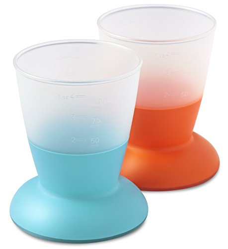 BABYBJORN Baby Cup - Orange/Turquoise, 2-Count