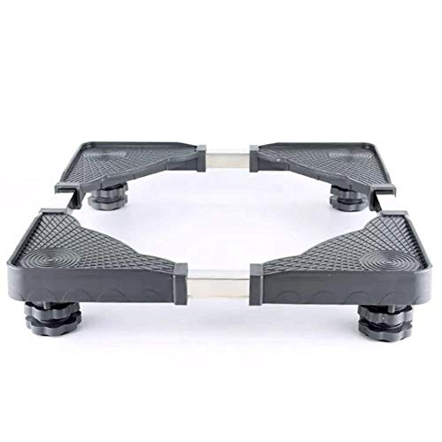Movable Base Size Adjustable with 4 Strong Feet Washing Machine Base for Dryer Refrigerator