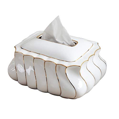 - MSF Tissue Box White Rectangular Tissue Box Cover Tabletop Porcelain Tissue Holders, Napkin Holder, Home Decoration Ornaments,20x12.5 cm