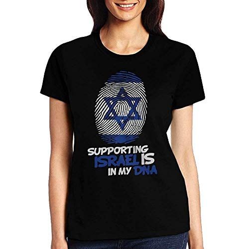 GAMSJM Personalized Supporting Israel is in My DNA Womens Tshirt Sports Fitness Tees