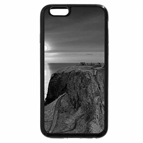 iPhone 6S Plus Case, iPhone 6 Plus Case (Black & White) - lonely house sunset