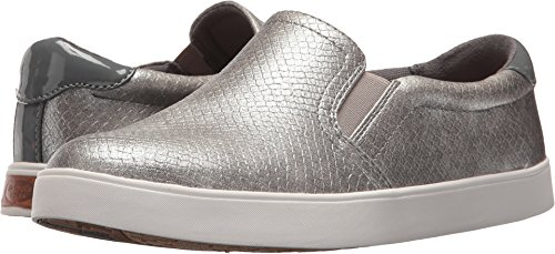 Dr. Scholl's Shoes Women's Madison Fashion Sneaker, Grey Pearlized Embossed Snake Print, 8.5 M US