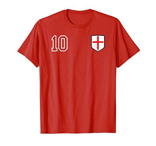 (Retro England Soccer Jersey England Football T-Shirt 1966)